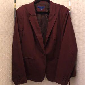 20W Apt 9 maroon suit jacket blazer